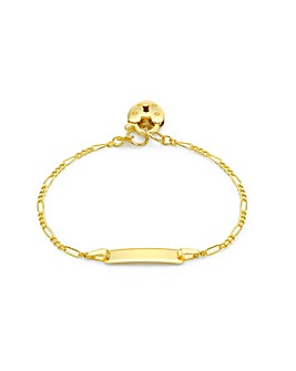 9ct Gold ID Padlock Bracelet