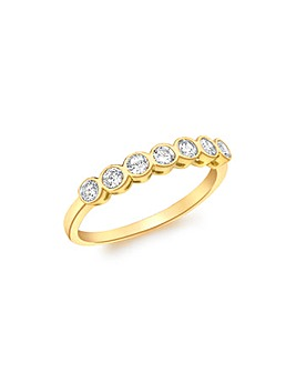 9ct Gold Seven stone Eternity Ring