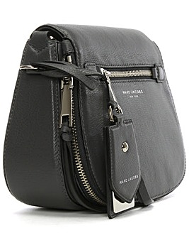 Marc Jacobs Pewter  Leather Saddle Bag