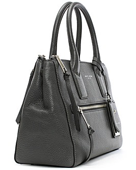 Marc Jacobs Pewter Leather Tote Bag