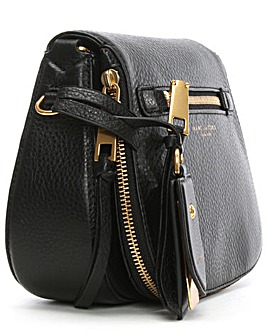 Marc Jacobs Black Leather Saddle Bag