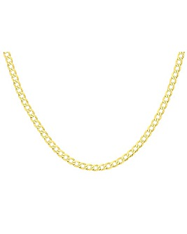 9Ct Gold Diamond Cut Curb Chain