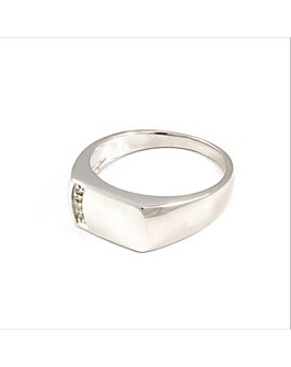 Gents Platinum Plated Diamond Ring