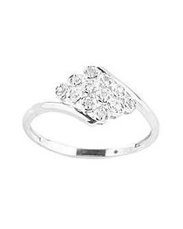 9ct White Gold 0.10ct Diamond Ring