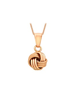 9Ct Gold Knot Necklace