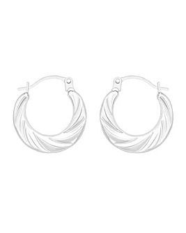 9CT White Gold Mini Twist Earrings