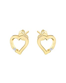 Sterling Silver Gold Plated Earring
