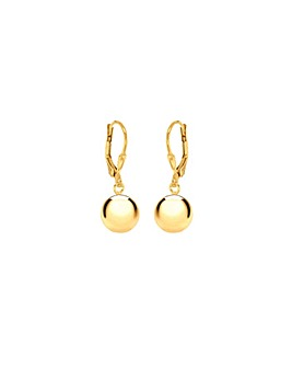 Sterling Silver Gold Plated Ball Earring
