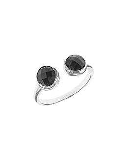 Sterling Silver Black Torque Ring