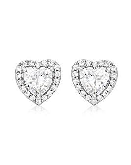 9Ct Gold Heart Stud Earrings