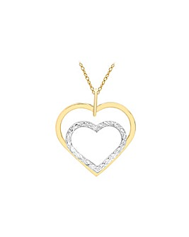 9Ct Gold Heart Necklace
