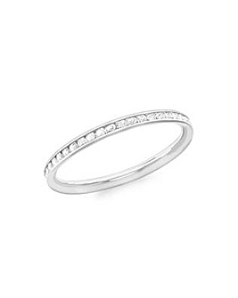 9CT White Gold Band Ring