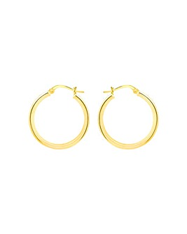 Sterling Silver Gold Plated Hoop Earring