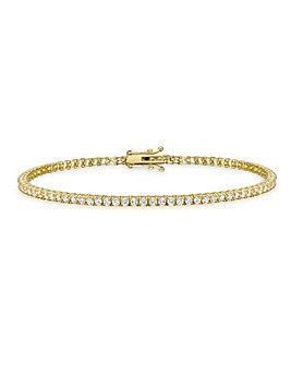 9CT Yellow Gold Round Tennis Bracelet