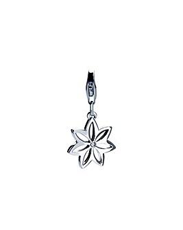 Flora Silver Charm