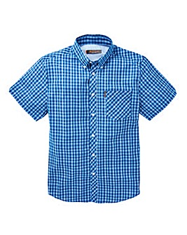 Ben Sherman Mixed Scale Gingham Shirt L