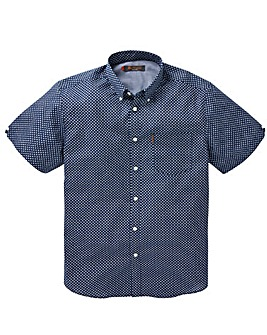 Ben Sherman Overprint Gingham Shirt Long