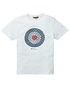 Ben Sherman Checked Target T-Shirt L