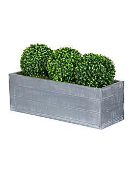 Artificial Topiary Triple Ball Planter