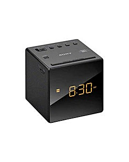 Sony ICF-C1B Cube Clock Radio - Black
