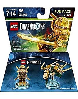 LEGO Dimensions Ninjago Gold Ninja FunPk