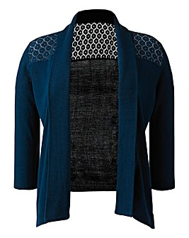 Lace-Back Cardigan