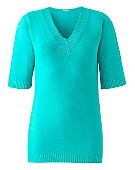 Super Soft V Neck Short Sleeve Sweater