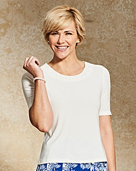 Jersey Top with Ruched Neckline