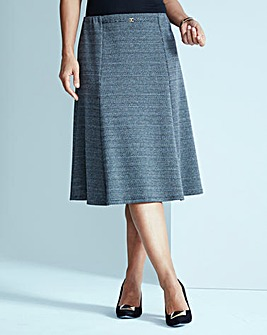 Jersey Skirt with Snaffle Detail