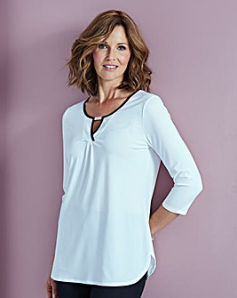 Jersey Tunic With Contrast Trim