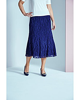 Lined Lace Skirt L29in