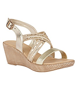 LOTUS TAPERLEY WEDGE SANDALS