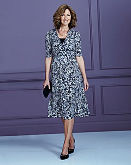 Jersey Wrap Dress L43in