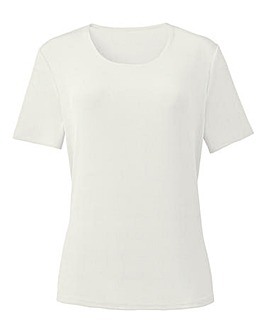 Round-Neck Slinky Jersey Top