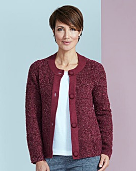 Boucle Knitted Jacket Cardigan