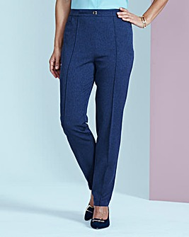 Herringbone Pull-On Trouser Extra Short