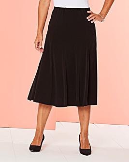 Plain Jersey Panelled Skirt L27in