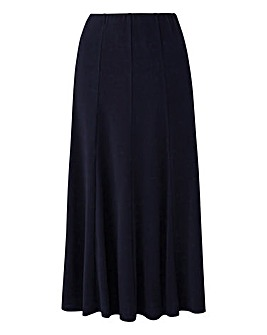 Plain Jersey Panelled Skirt L32in