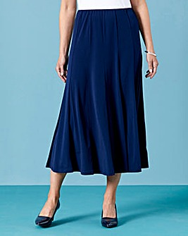 Plain Jersey Panelled Skirt L27in