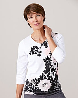 Printed T shirt with 3/4 Sleeves