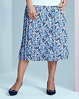 Printed Pleat Skirt 25in