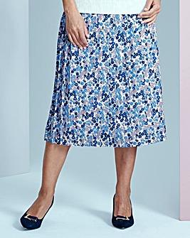 Printed Pleat Skirt 25in