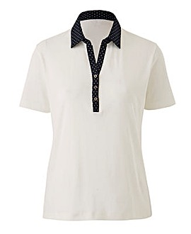 Short Sleeve Rugby Top with Spot Collar