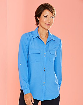 Utility Blouse with Pockets