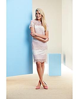 Nude/Pink Lace dress
