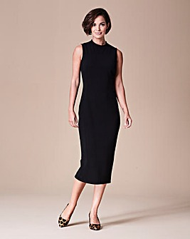 High Neck Jersey Dress