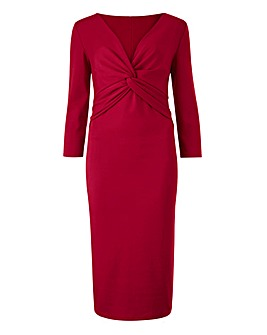 Ruby Red Knot Front Dress