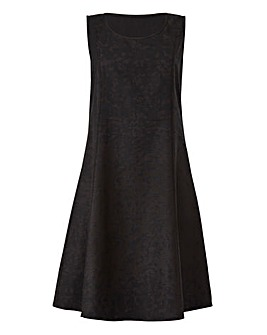 Black Linen Mix Dress