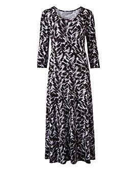 Black/Ivory Jersey Maxi Dress - L52
