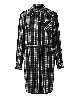 Black/White Check Shirt Dress